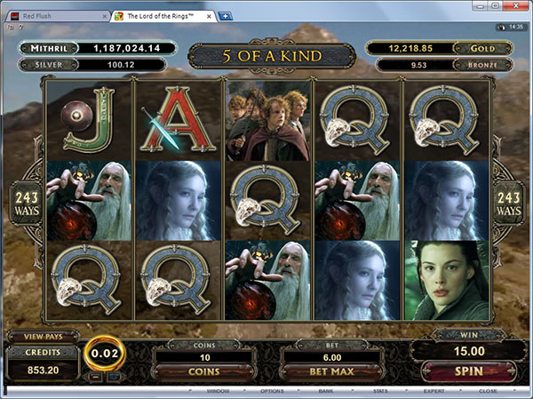 Lord of The Rings Slots Online and Real Money Casino Play