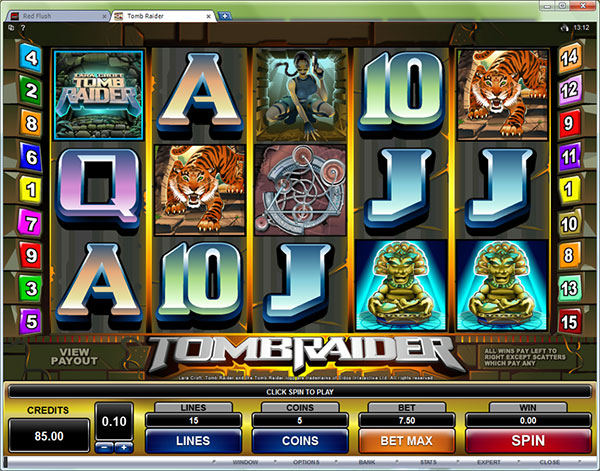 tomb raider slot machine